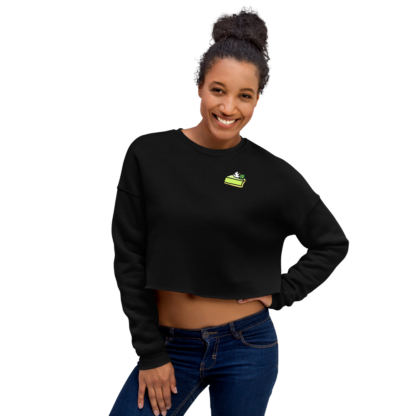 Crewneck Crop-Top – KEY LIME PIE (NOIR/GRIS) – Distorsion Podcast