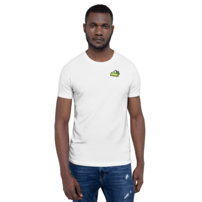 T-shirt Unisexe KEY LIME PIE (BLANC)- Distorsion Podcast)